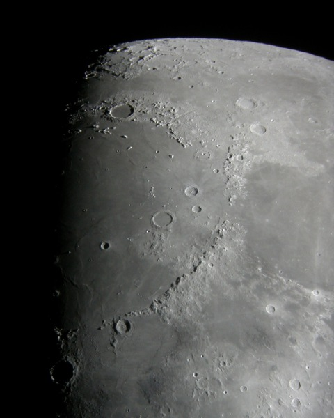 Mare Imbrium from my driveway, Feb. 3, 2009