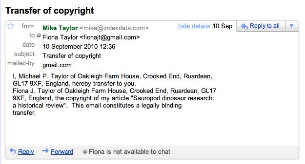 assignment copyright