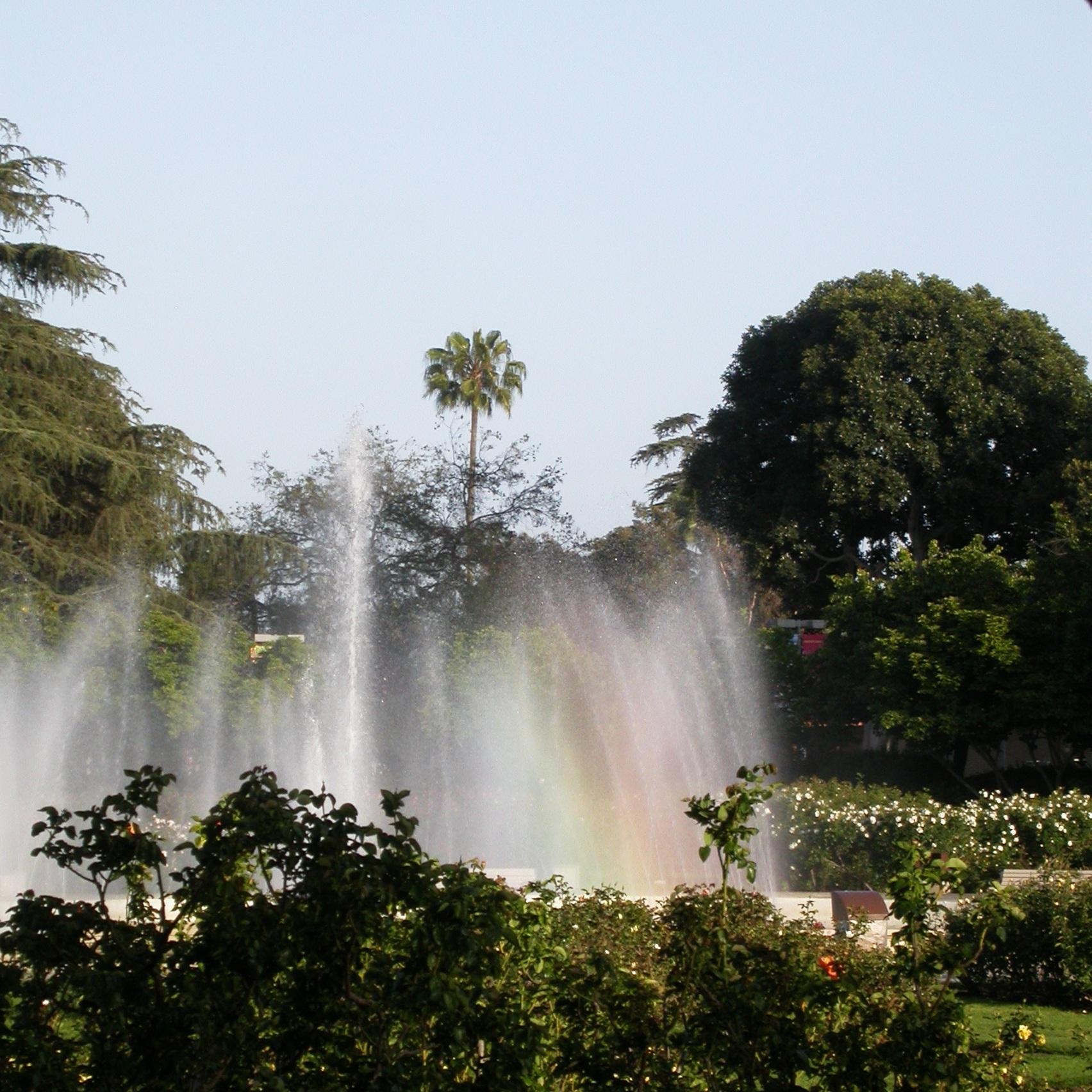 LACM dino camp 2 - fountain