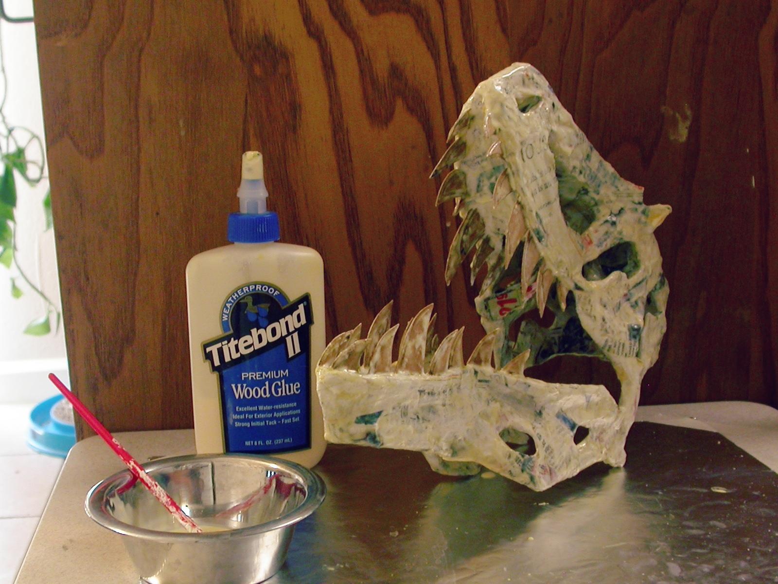 Diy dinosaurs part 1 papier mache sauropod vertebra for What to make out of paper mache