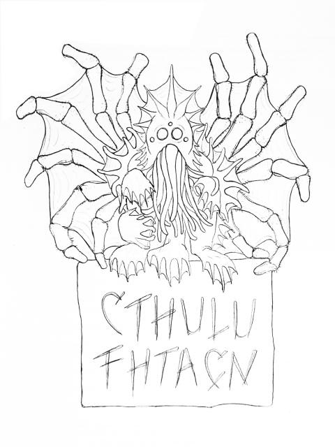 Cthulhu sketch 1
