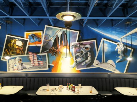 Gila Bend Space Age Restaurant - mural