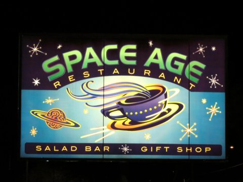 Gila Bend Space Age Restaurant - sign