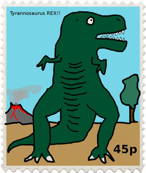 stamp-trex