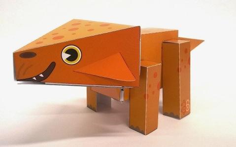 Aquilops paper toy by Gareth Monger