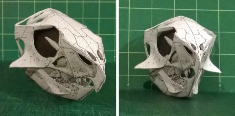 Extreme Aquilops papercraft skull by Gareth Monger