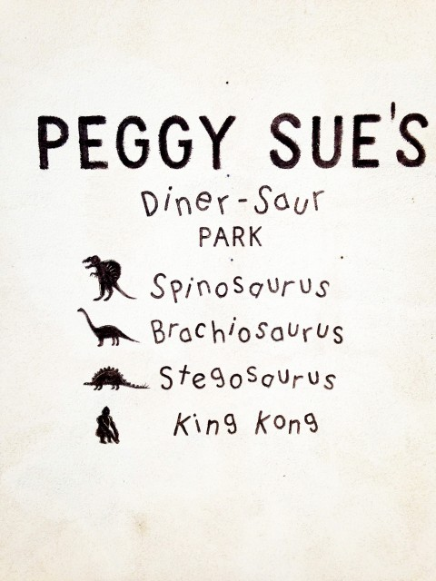 Peggy Sue's Diner-saurs - sign